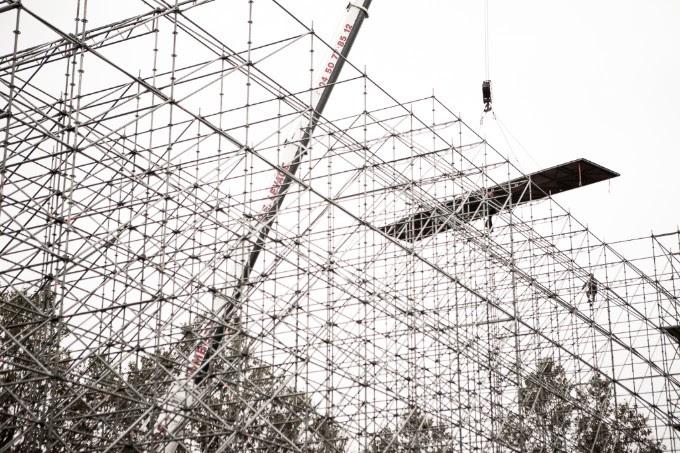 Sosh Big Air en construction / Copyright David Malacrida
