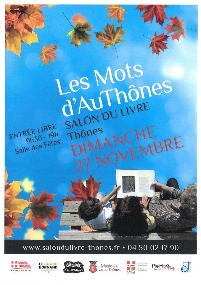 Les Mots d'Authônes, le salon du livre à Thônes à l'initiative de Jean-Marc Lefèvre