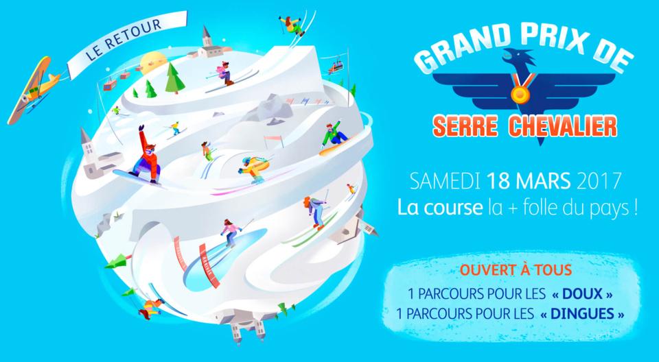 """Back in the futur du """"Grand Prix de Serre Chevalier"""" le 18 mars 2017"""