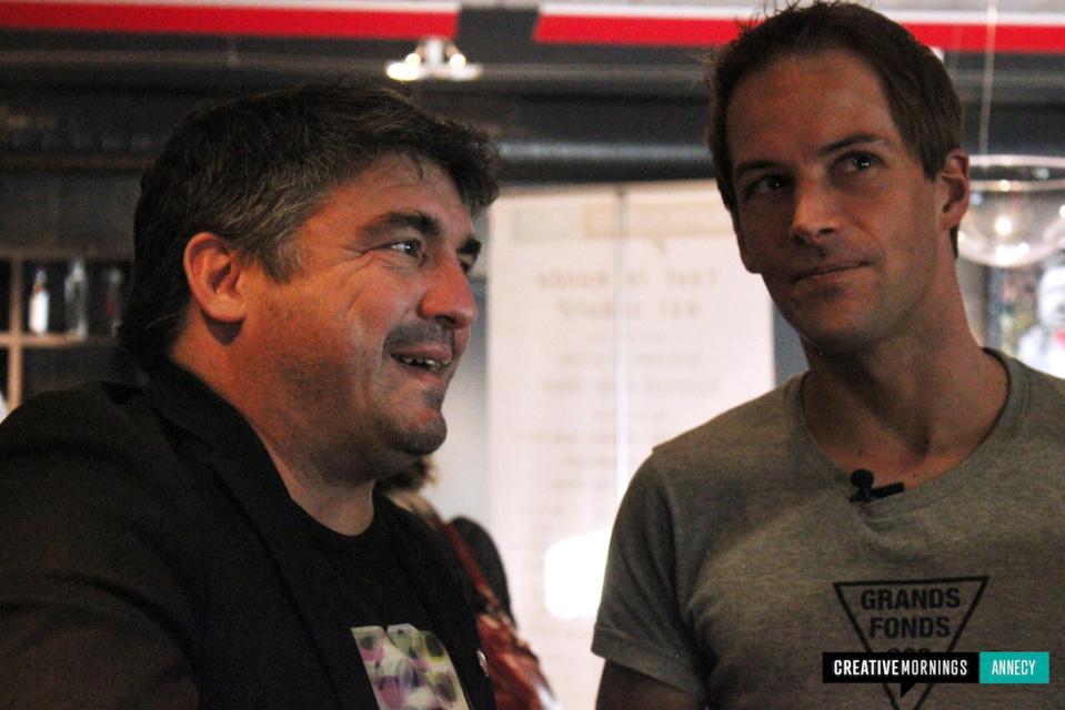 Stéphane Tourreau (droite) © CreativeMornings Annecy - Espace 55