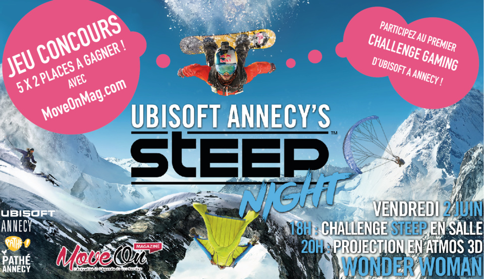 JEU CONCOURS : UBISOFT ANNECY's STEEP Night, 5x2 Places à gagner !