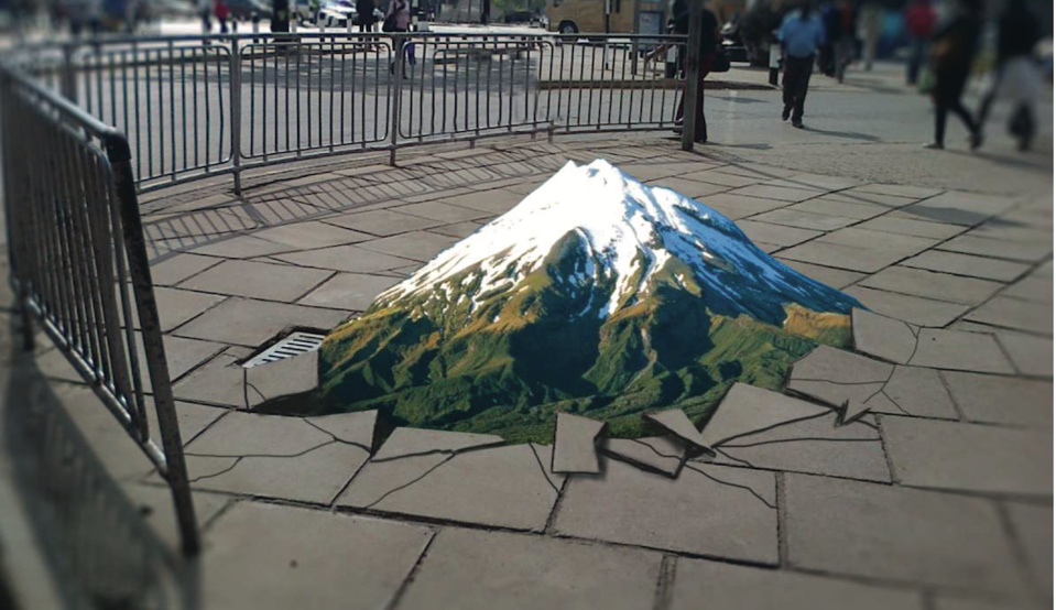 Rising Mountains ©Slinkachu