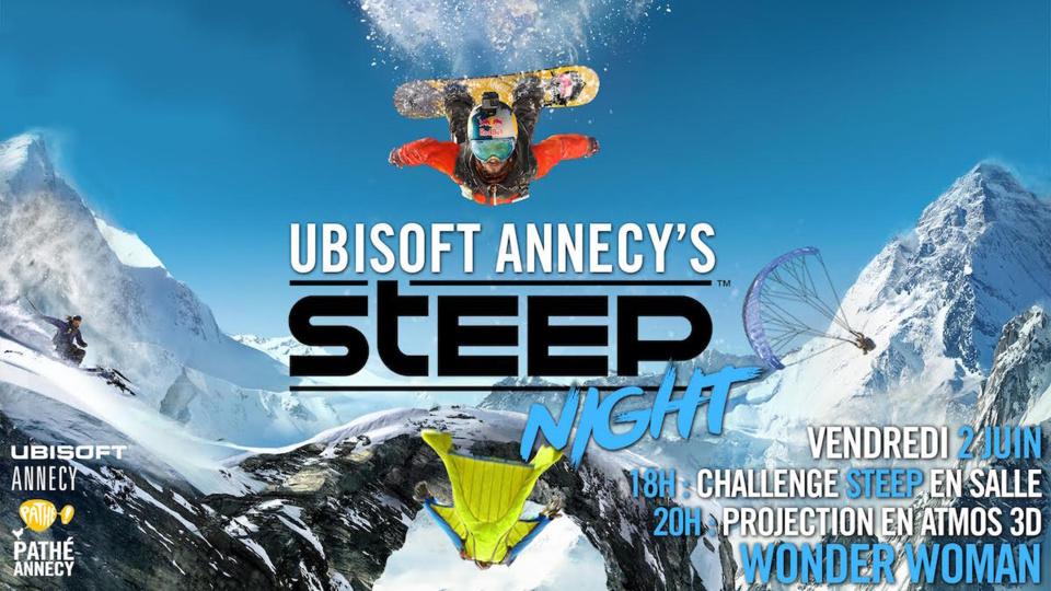 Annecy's Steep night, vendredi 2 juin au cinéma Pathé Annecy !