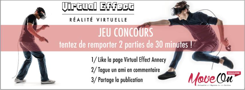JEU CONCOURS : 2 Parties pour jouer en Réalité Virtuelle chez Virtual Effect Annecy !