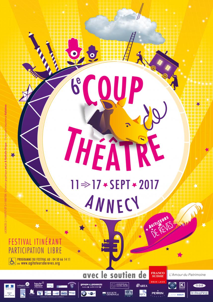 6° Coup de théâtre. 11/17 septembre 2017. Annecy
