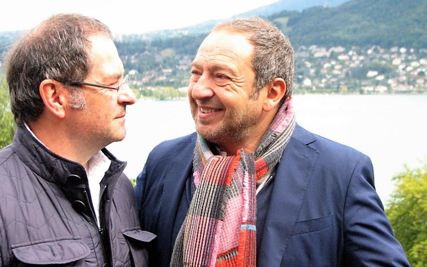 Dominique Pitoiset et Patrick Timsit aux Trésoms - Annecy (Photo Paul Rassat)
