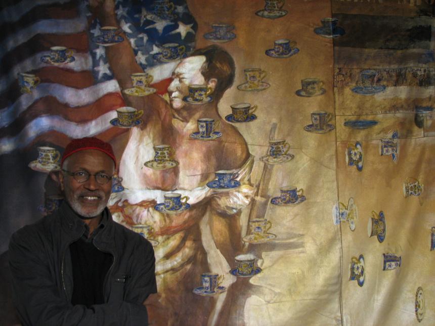 Hassan Musa devant The China Shop