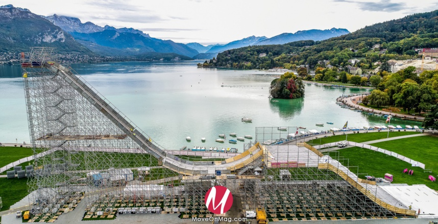 Le tremplin - Sosh Big Air - Lac d'Annecy 2017 ©Jean-Marc Favre - Drone Wooloomooloo