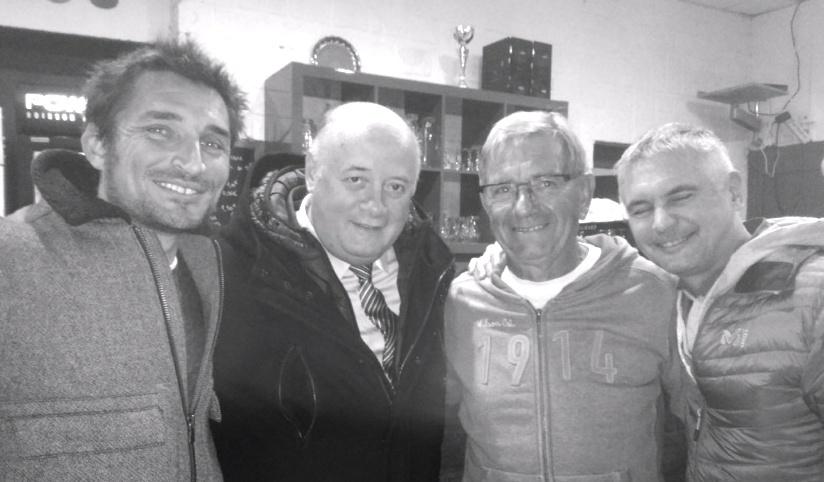 Cyril Duret et Robert Fudala, président et secrétaire général d'Annecy Tennis avec Bernard Giudicelli