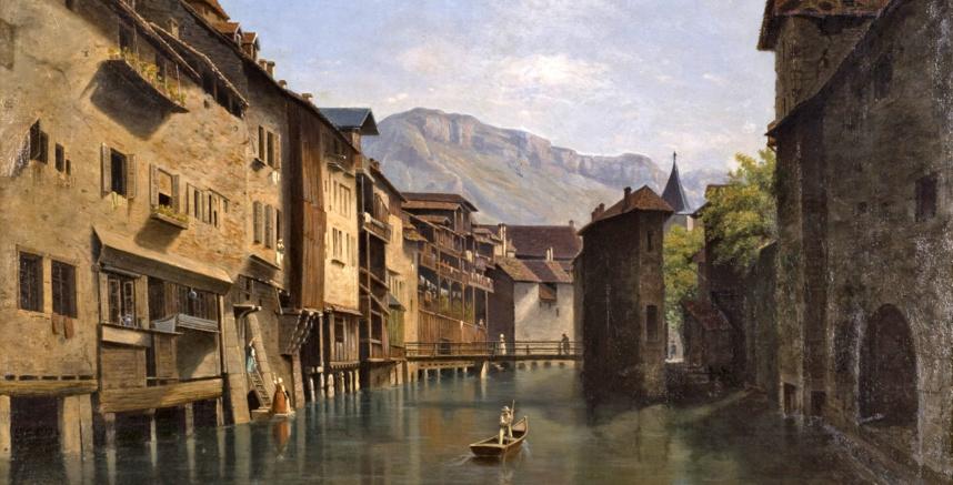 Annecy, les bords du Thiou - Collection Musées d'Annecy © Denis Vidalie