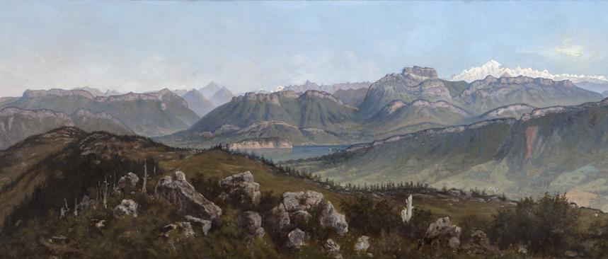 Panorama du Semnoz (détail) - Collection Musées d'Annecy © Denis Vidalie