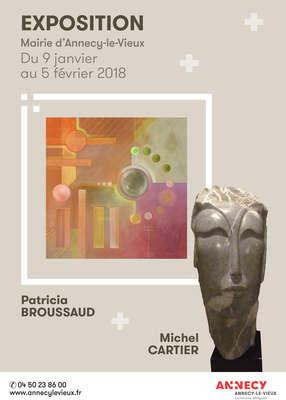 Exposition de Patricia Broussaud et de Michel Cartier - Mairie d'Annecy-le-vieux