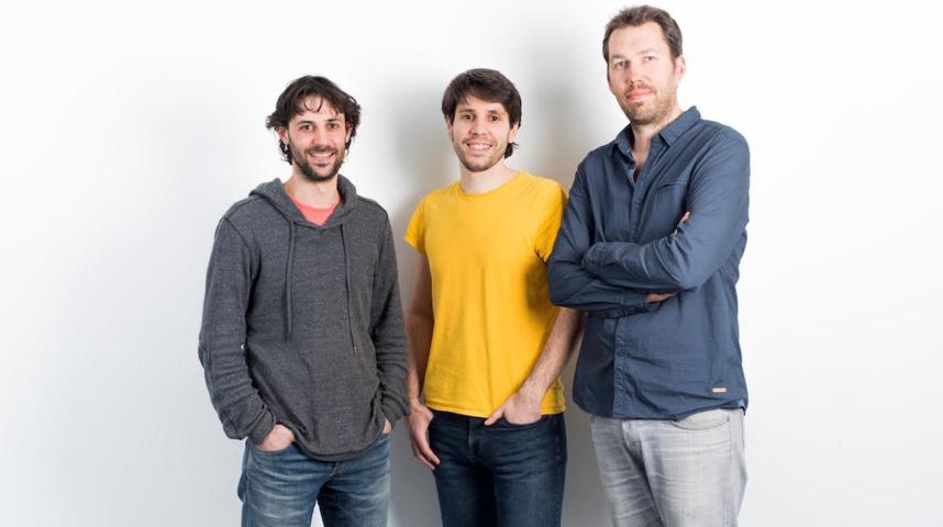 Guillaume, Vincent et Bruno de l'agence @K.I.D.S