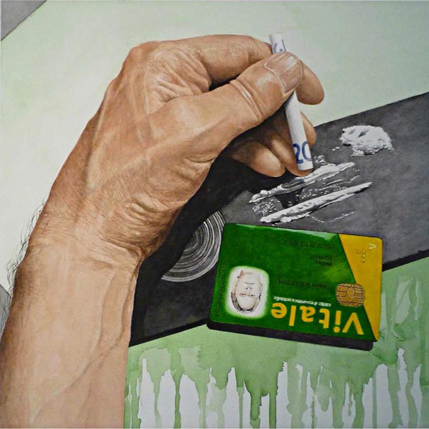 """Une oeuvre de la série """"Addictions"""" de Franz Schimpl"""
