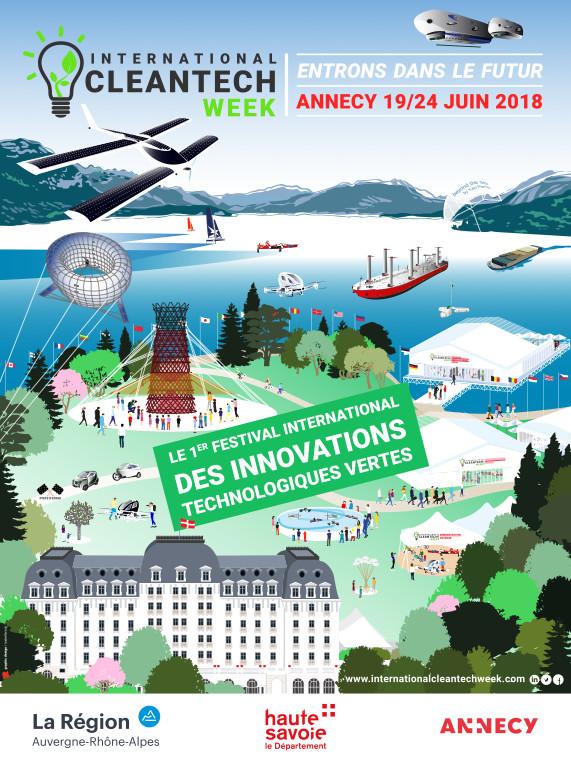 International Cleantech Week, du 19 au 24 juin 2018 à Annecy