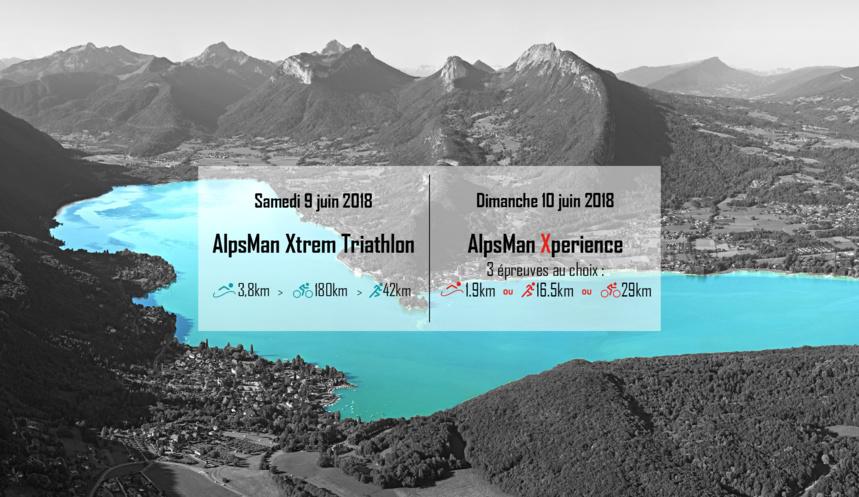 AlpsMan - Triathlon XXL les 9 et 10 juin 2018 à Annecy