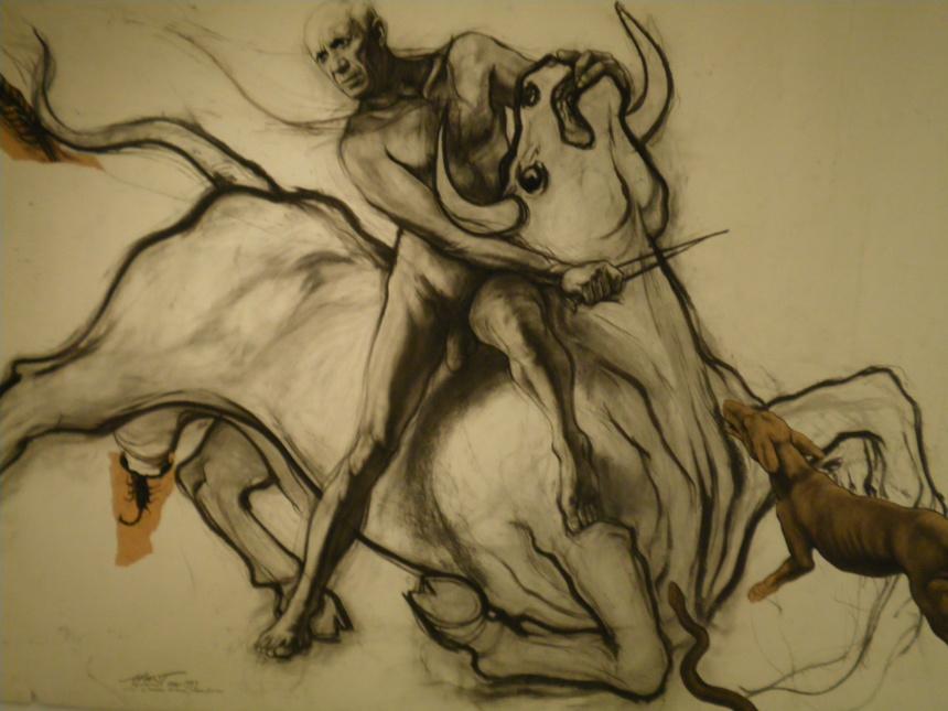 Picasso-Mithra d'Ernest Pignon-Ernest