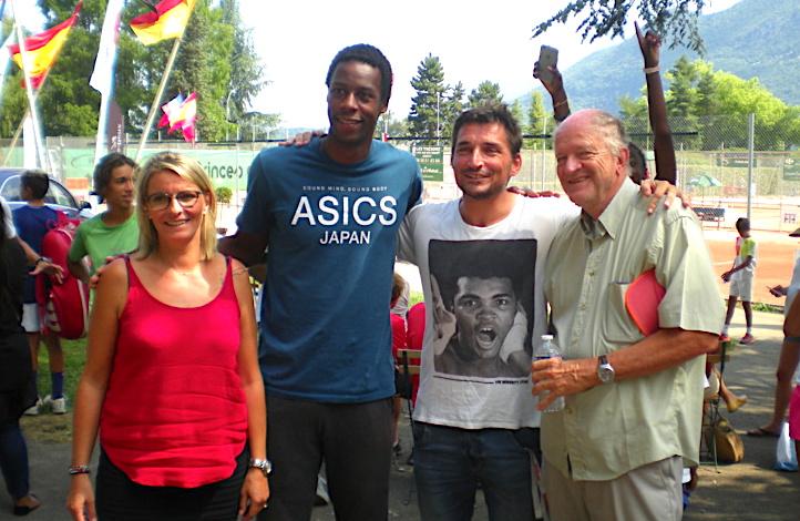 Gaël avec Anne Chedozeau, Cyril Duret et Bruno Vespres ©Paul Rassat
