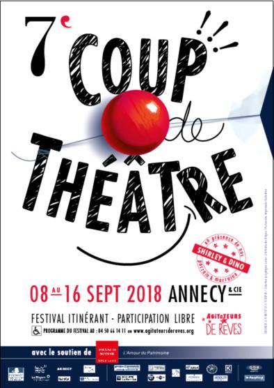 7° Coup de théâtre du 8 au 16 septembre. Annecy et les environs.
