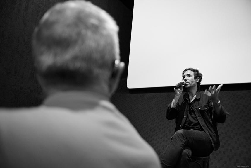 Rencontre avec le public aux cinémas Nemours ©Didier Devos
