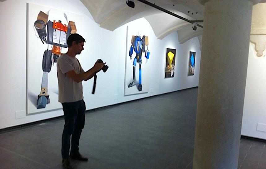 L'artiste en pied - Till Rabus expose à l'Abbaye. Espace d'art contemporain. Annecy-le-Vieux @MoveOnMag