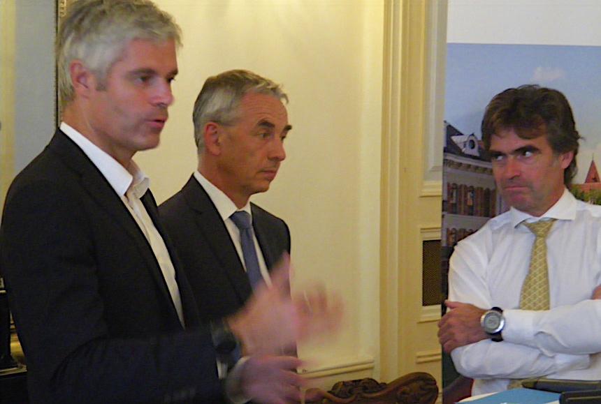 Laurent Wauquier, Jean-Luc Rigaut - La région Région Auvergne-Rhône-Alpes renforce son soutien à Annecy ©Paul Rassat