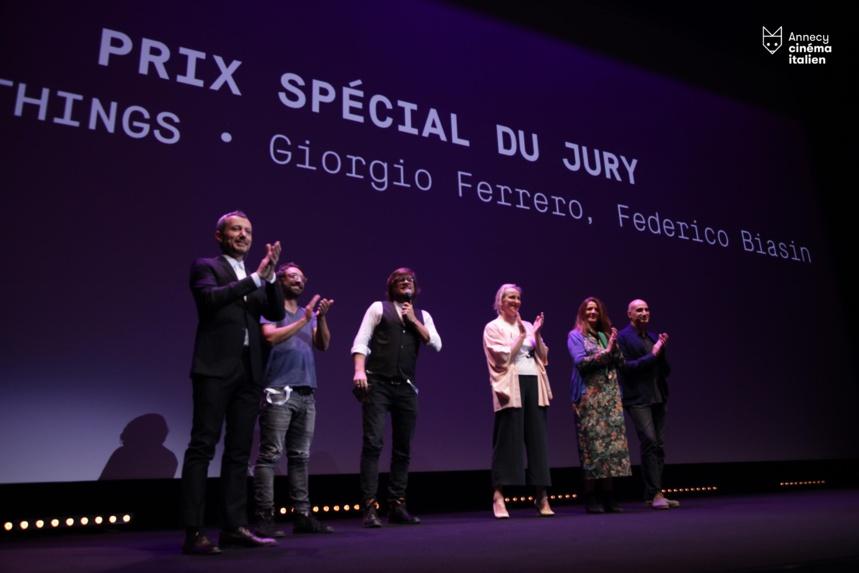 G. Ferrero et F.Biasin avec le jury du Prix Spécial
