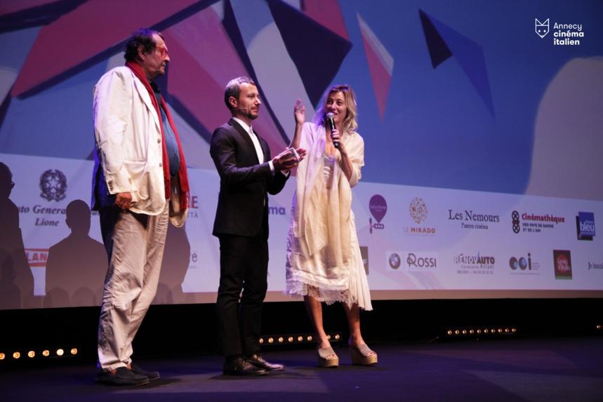 Bruno Raffaelli et Valéria Bruni Tedeschi avec F.G.Via