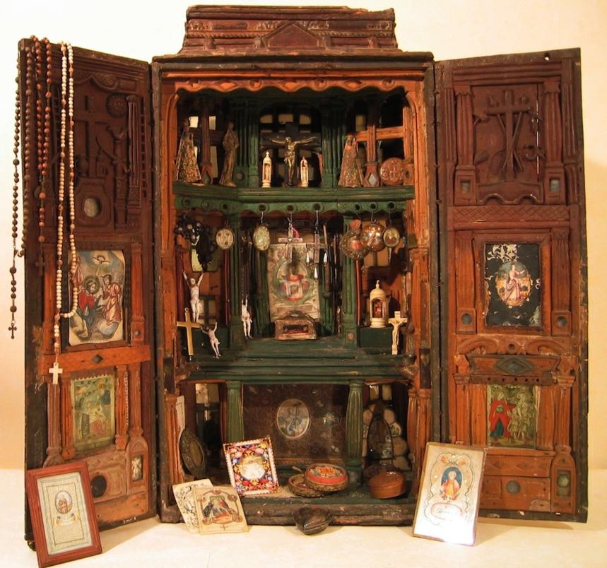 Boite de colporteur, 17e siecle - Chalon-sur-Saone, collection Tresors de ferveur