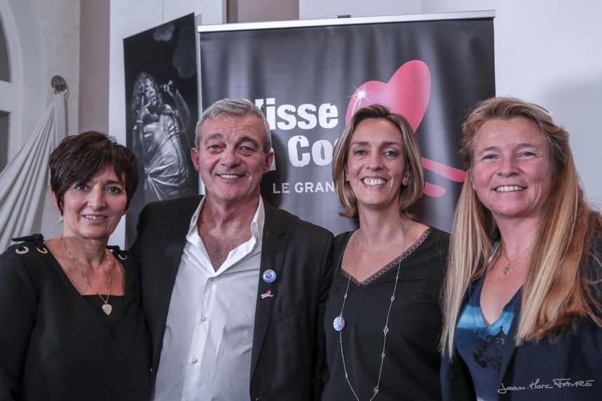 Les parents de Grégory Lemarchal - Grand-Bornand : Glisse en cœur 12° édition @Jean-Marc Favre