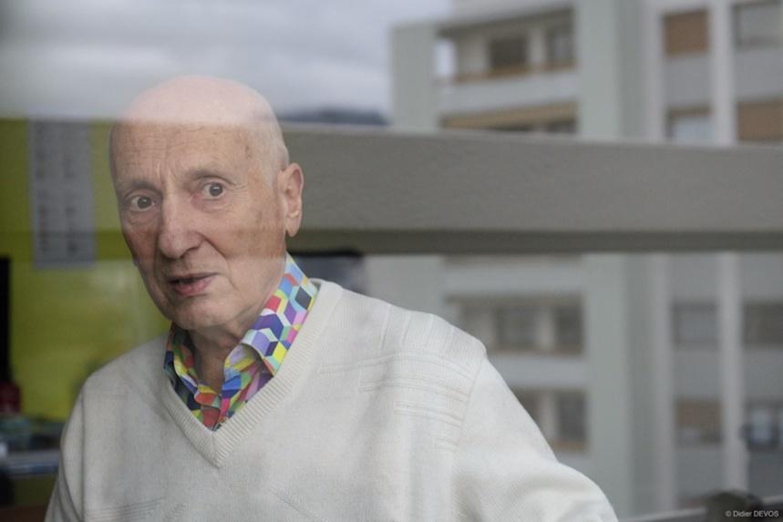 Michel Ocelot chez lui, à Annecy ©Didier Devos