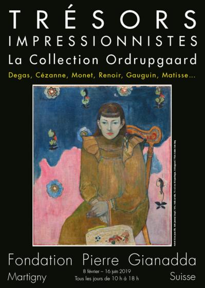 Affiche Fondation Pierre Gianadda « Trésors Impressionnistes »