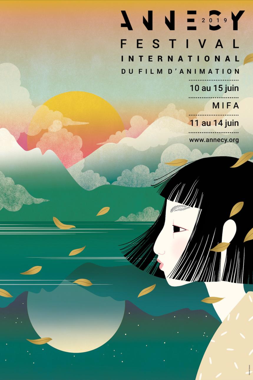 Affiche du festival international du film d'animation ANNECY 2019 ©Charlotte Gastaut