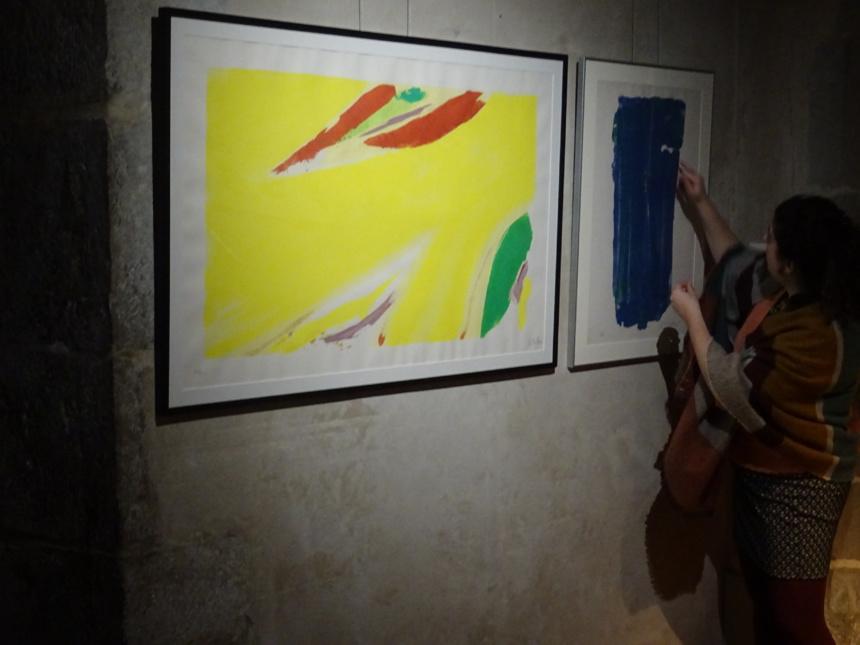 Lucie Cabanes à l'oeuvre