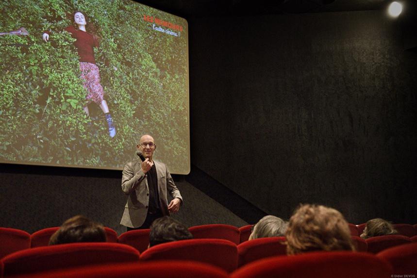 Guillaume Giovanetti avec le public des Cinémas Nemours ©Didier Devos