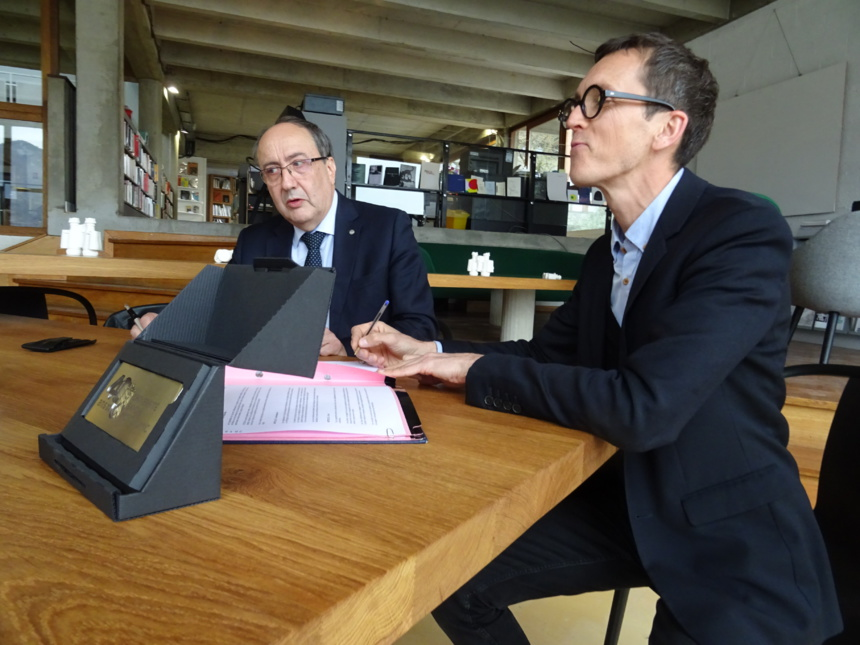 Messieurs Denis Varaschin et Stéphane Sauzedde ©Paul Rassat