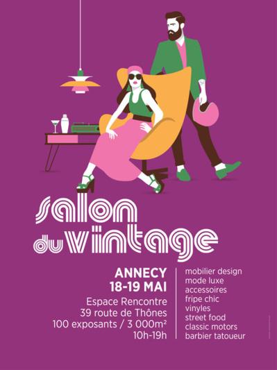 Salon du Vintage Espace Rencontre Annecy-le-Vieux les 18 et 19 mai 2019