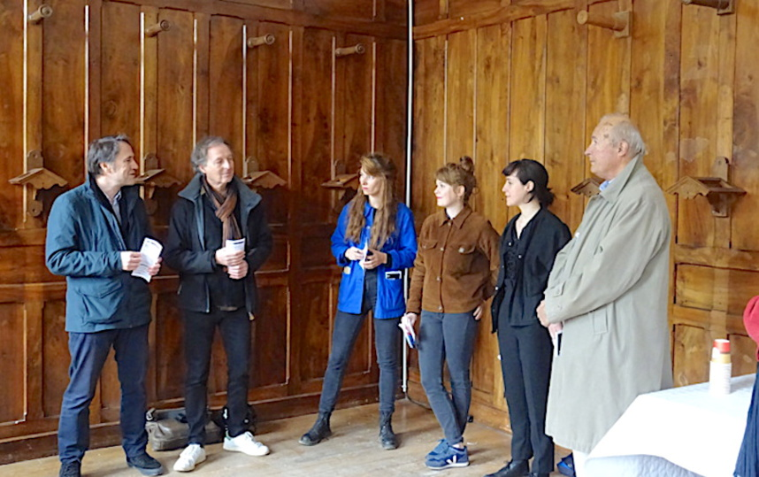 Dominique Puthod, José Villot et les lauréates ©Paul Rassat