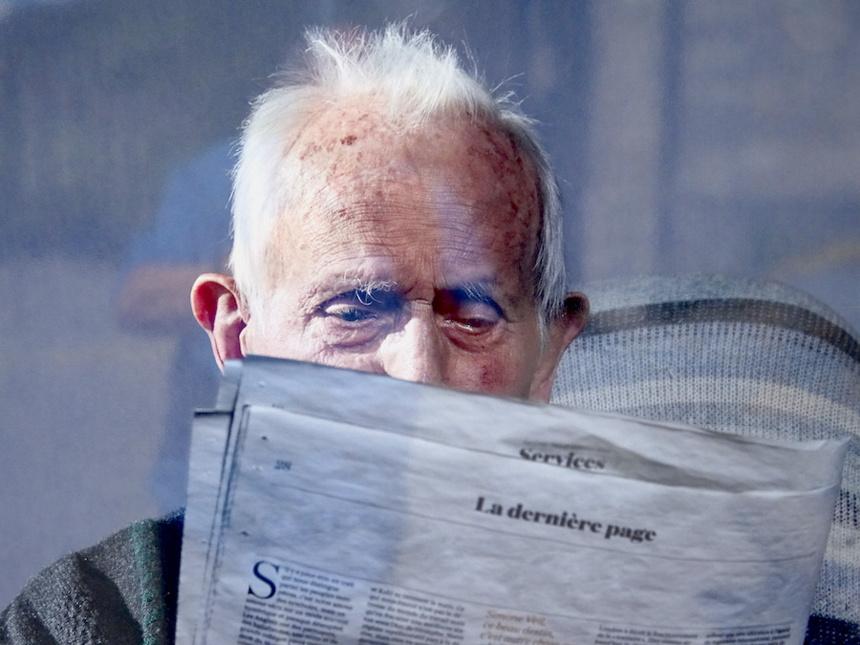 Photo d'un centenaire prise par Henrike Stahl