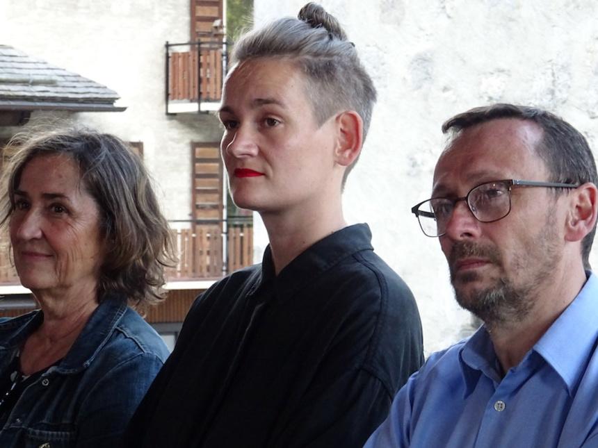 Catherine Claude, Henrike Stahl, Jean-Jacques Sébille de l'agence Les Cyclistes