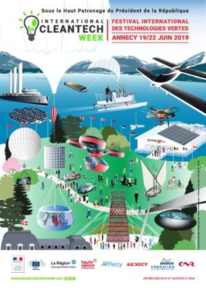 Affiche International  CLEANTECH WEEK  Annecy du 19 au 22 juin 2019
