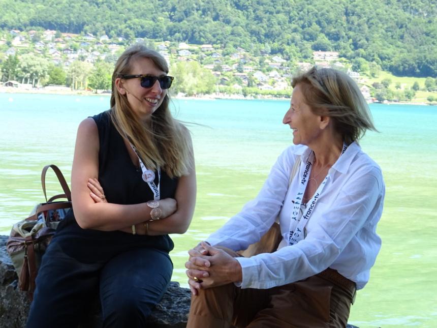 Elise Mathieu et Nathalie Berriat