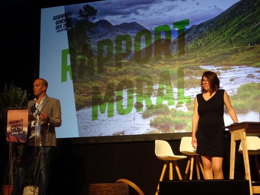 Patrick Giraudon, président d'OSV et Anne Schott, directrice exécutive qui cède le poste pour des projets personnels