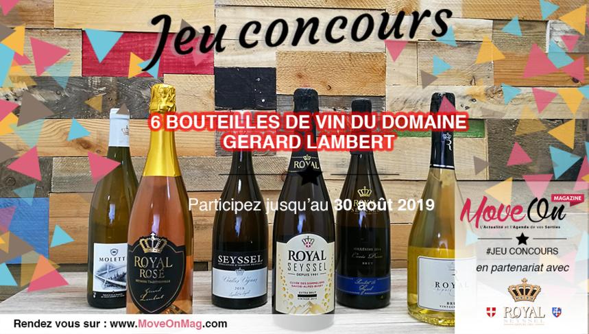 #JEUCONCOURS / 1 caisse de bouteilles à gagner avec le domaine Gérard Lambert !