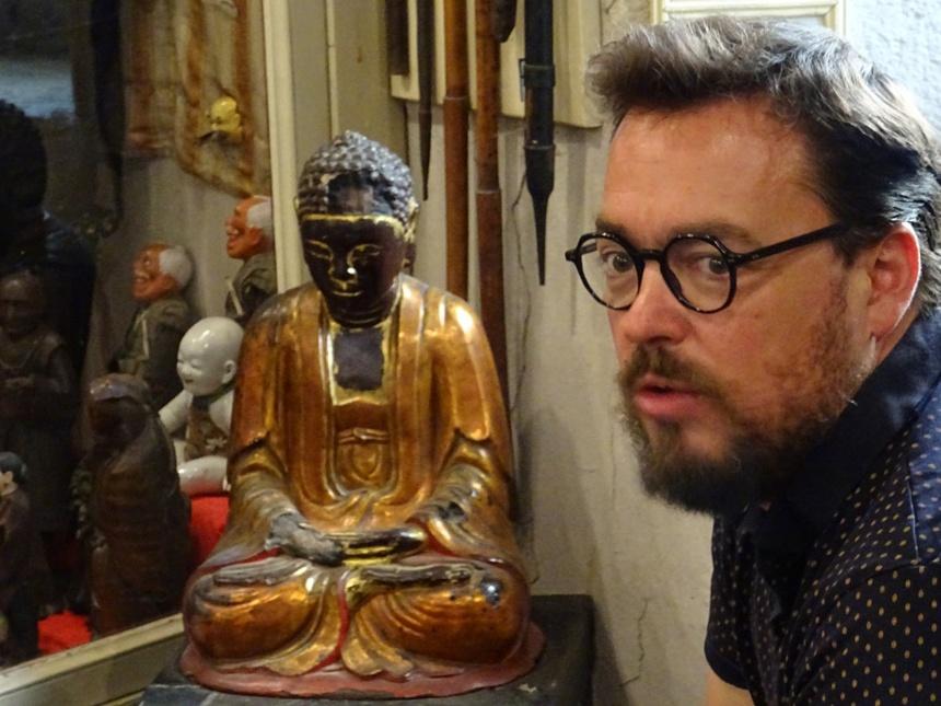 Arnaud Delerce et le bouddha