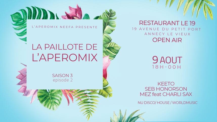 Rendez-vous à l'Aperomix Neefa le 9 août 2019