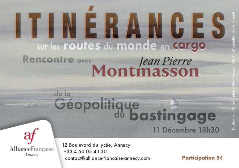 Jean-Pierre Montmasson en deux escales à l'Alliance Française/Annecy