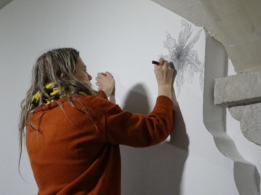 L'exposition s'installe à même les murs ©Paul Rassat