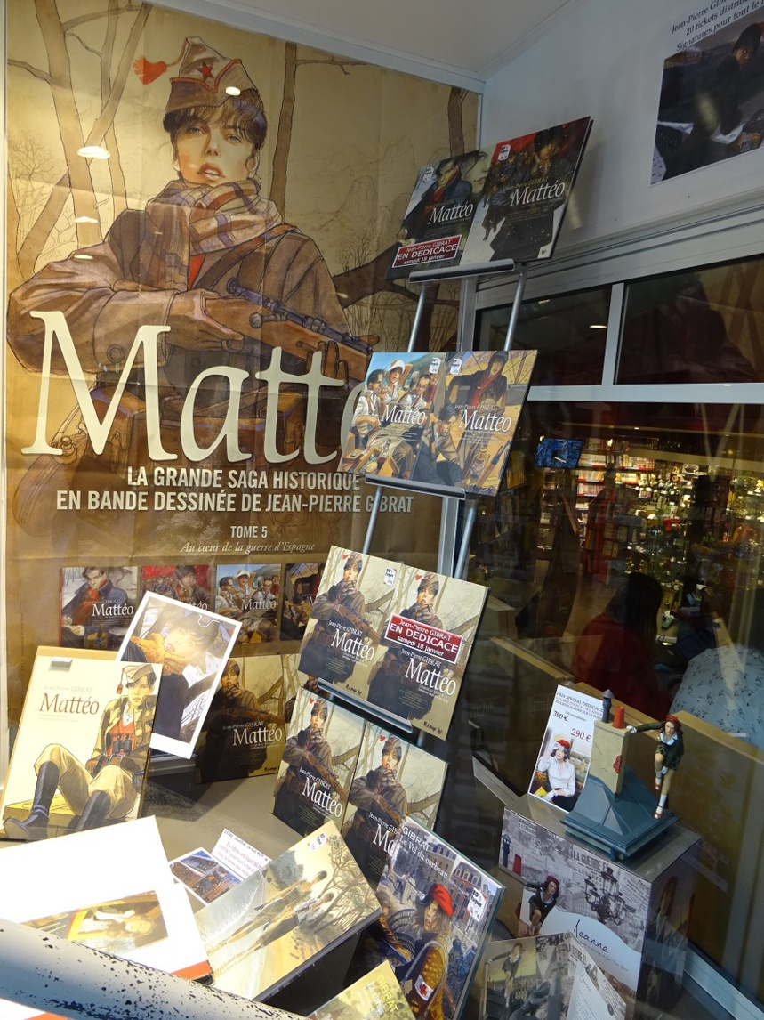 Jean-Pierre Gibrat dédicaçait Matteo 5 chez BD Fugue Annecy