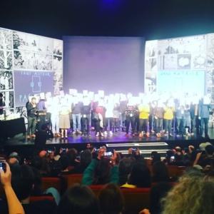 Les auteurs sur la scène à Angoulême ©DR